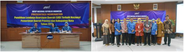 Presentasi Nominator Pemilihan Lembaga Kearsipan Daerah (LKD) Terbaik Nasional Tahun 2016