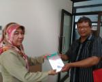 Penyerahan Bahan Pustaka Karya Cetak Dari Penerbit Khitah Publishing