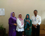 Kunjungan kerja dari Dinas Perpustakaan dan Kearsipan Kabupaten Bone Bolango