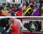 Kreatifitas Sulam Pita Jilbab di Rumah Belajar Modern