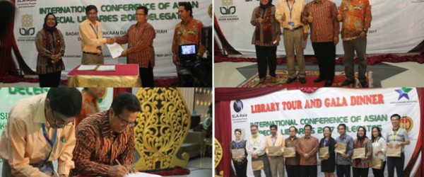 Library tour and gala dinner international conference of asian special libraries 2017 delegates di Grhatama Pustaka
