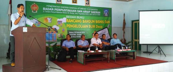 BPAD DIY Membangun Desa Dengan Badan Usaha Milik Desa (BUM Desa)