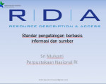 MATERI WORKSHOP PENGATALOGAN RDA Sri Mulyani