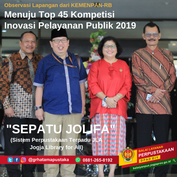 SEPATU JOLIFA menuju Top 45 Inovasi Pelayanan Publik (KIPP 2019)