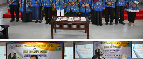 PELANTIKAN  PENGURUS DAERAH IKATAN PUSTAKAWAN INDONESIA DIY PERIODE 2019-2022