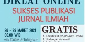 Diklat Onlne Sukses Publikasi Jurnal Ilmiah,