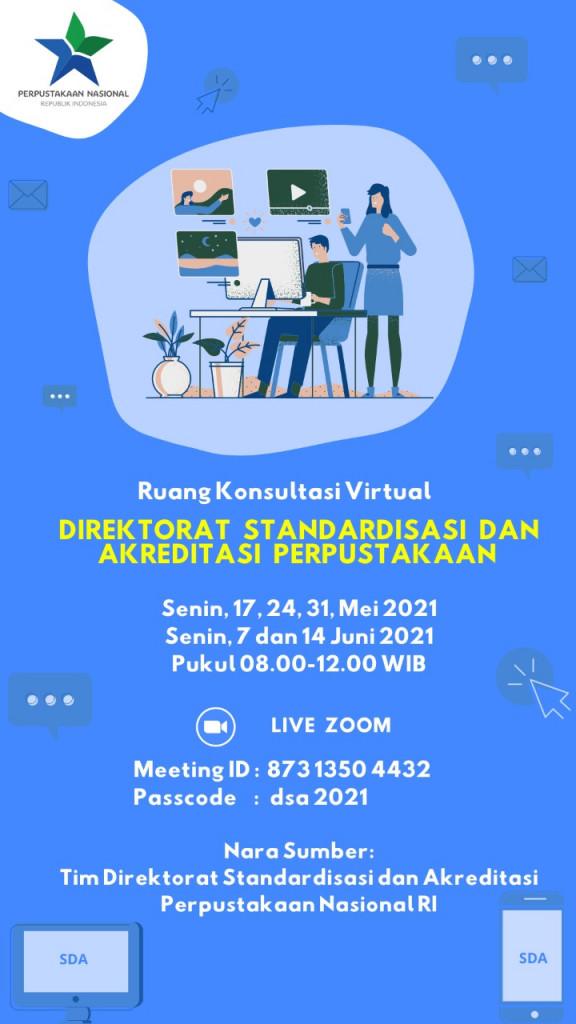 Konsultasi Virtual Standarisasi dan sertifikasi perpustakaan