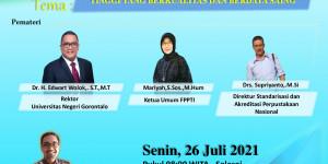 Pelantikan, webinar dan rapat kerja, FPPTI Provinsi Gorontalo periode 2021- 2024,