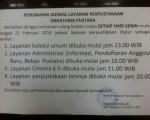 Perubahan Jadwal Layanan Perpustakaan Grhatama Pustaka